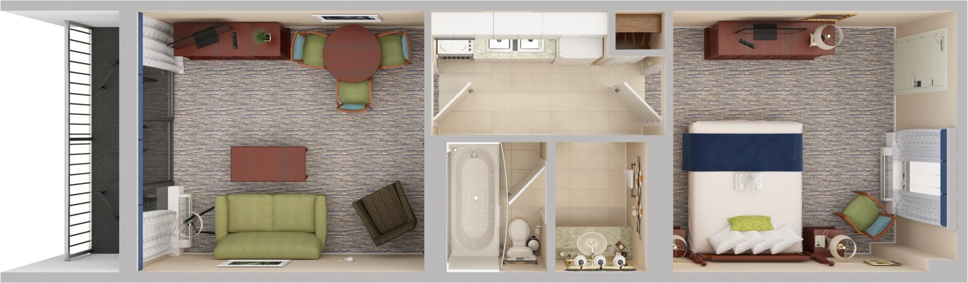 Oceanview Junior King Suite Layout