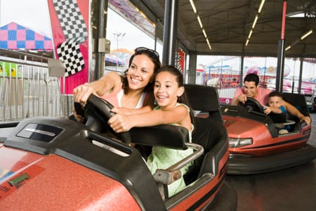 family bumper car racing